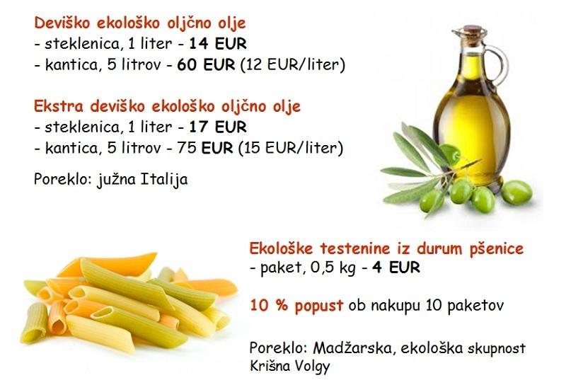 testenine in olje