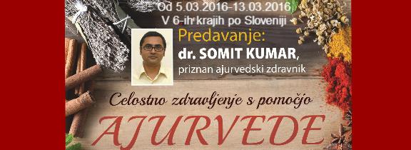 Ajurveda predavanja in konzultacije, dr. Somit Kumar